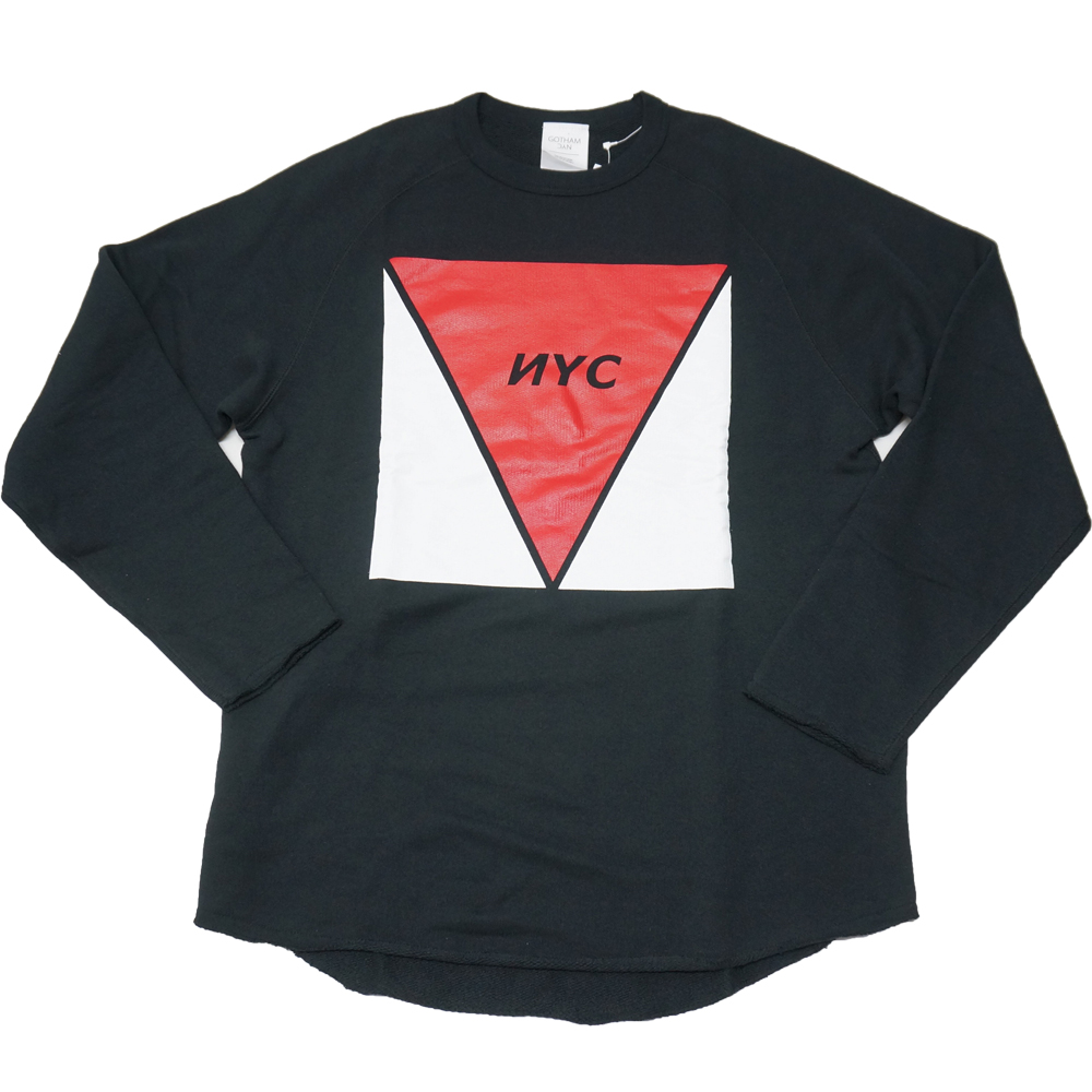 c7b920d214d60 GOTHAM NYC LOGO SWEAT L S TEE (BLACK) ¥8