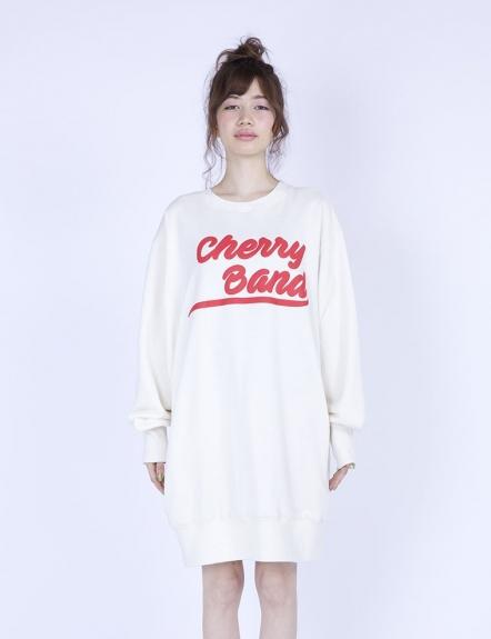 d9bff24996a3e CHERRY BAND BIG SWEATER (WHITE)