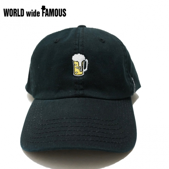 4b13a3a348fd WORLD wide FAMOUS BEER 6PANEL CAP (BLACK) ¥5,500(TAX)