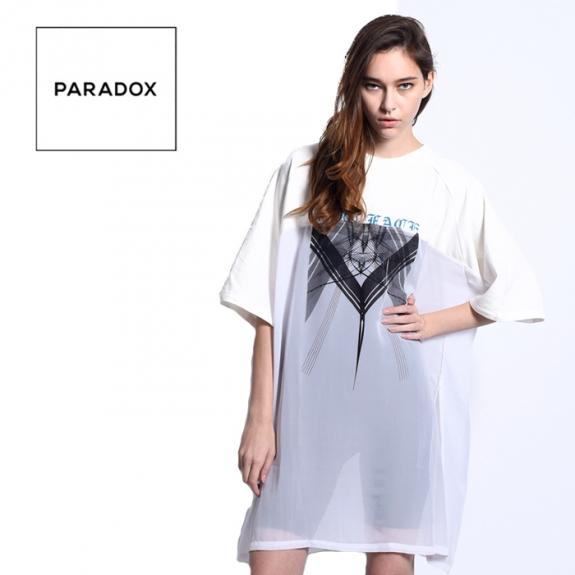 95c3d0f29fb97 PARADOX SEE THROUGH ONEPIECE (GRAY) ¥13