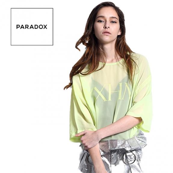 44c4ac9237 PARADOX SEE THROUGH TEE (PINK) ¥10,000(税抜)
