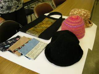 帽子、バッグ、ブックカバー