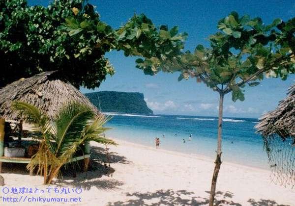 サモア・ウポル島のアレイパタ海岸