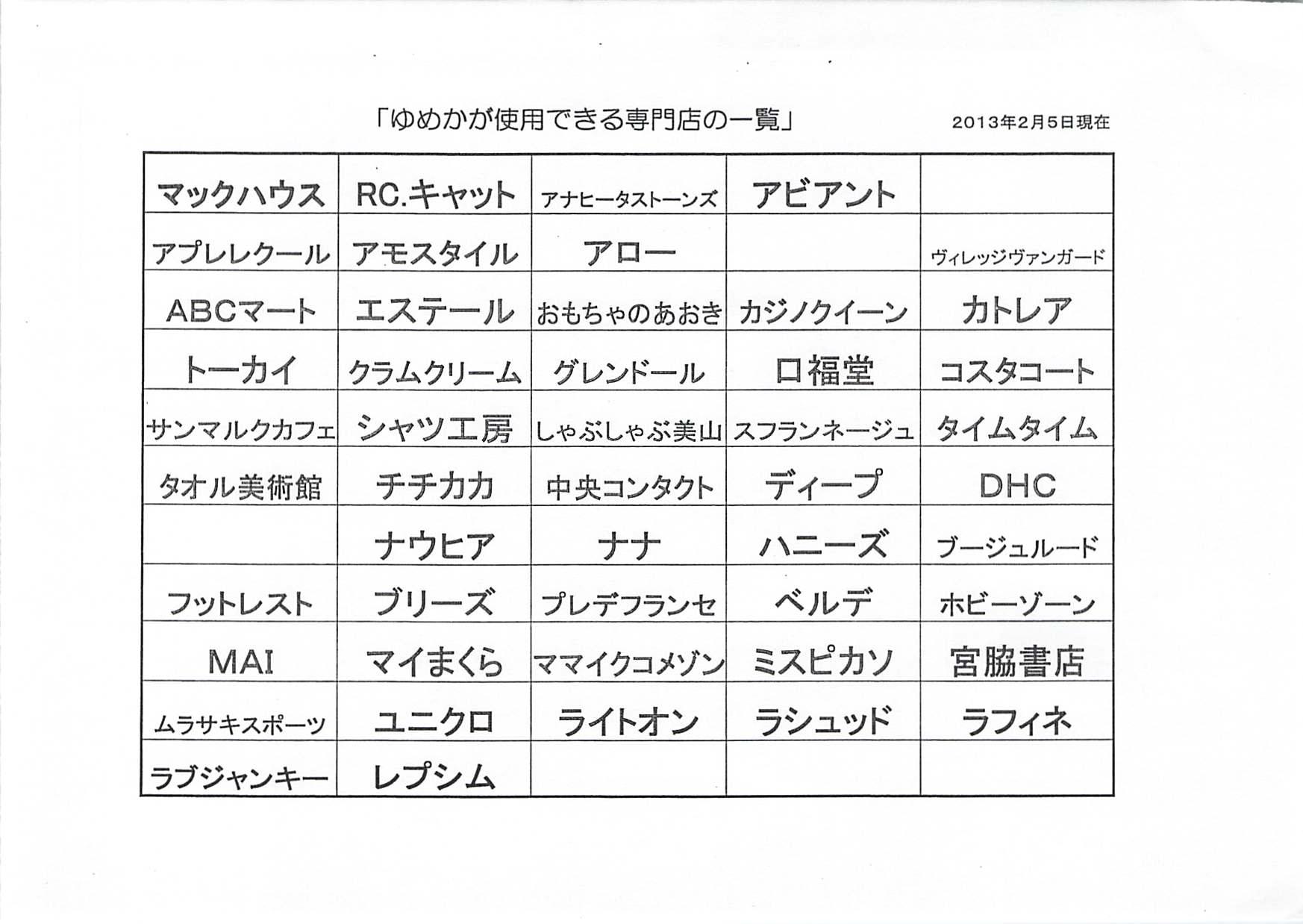 ゆめか20130205