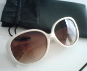 white sunglass