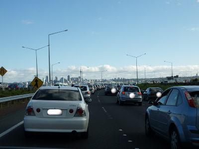 オークランドの渋滞
