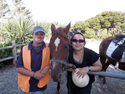 お馬のコッパーと記念撮影