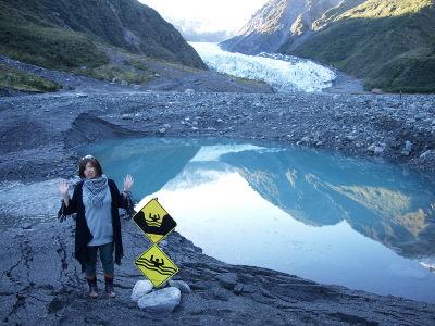 氷河でお散歩