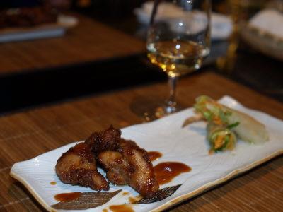 白ワインと亜細亜料理