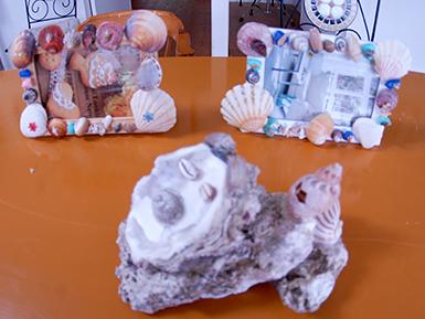 海と貝のアクセサリー作り体験 モトフサ現代美術館