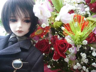 花と篠目君