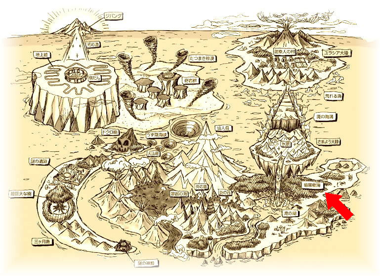 謎のジパング伝説 地図