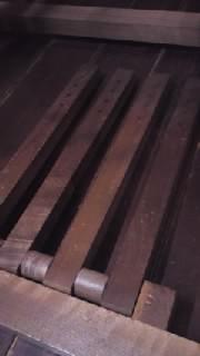 織機改造前4本踏み木