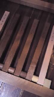 織機改造後6本踏み木