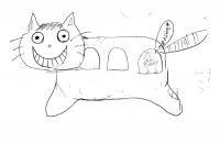 生徒さんの描いた猫バス