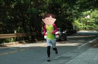 カメラマン走る
