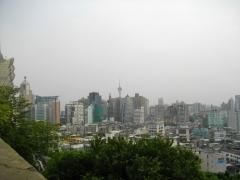 遠くのマカオタワー