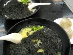 海苔麺と蒸餃子
