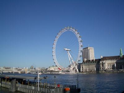 テムズ川とロンドンアイ