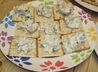 アボガドとスモークサーモンのクリームチーズ
