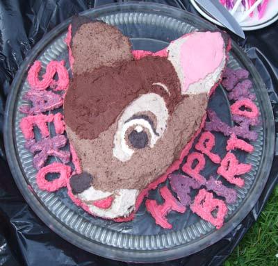 バンビのケーキ