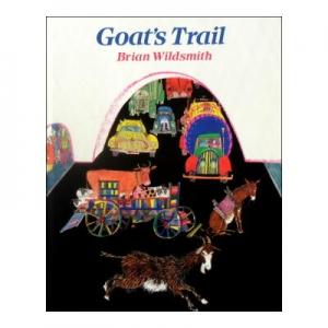 ブライアン・ワイルドスミスの愉快な穴あき絵本「Goats Trail」