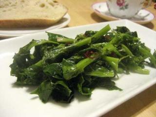 のらぼう菜のペペロンチーノ