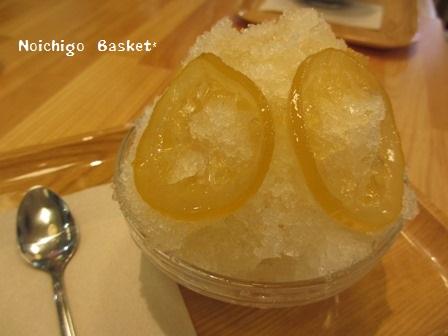 レモンとはちみつのかき氷~♪
