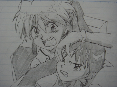 エヴァ。アスカ&シンジ
