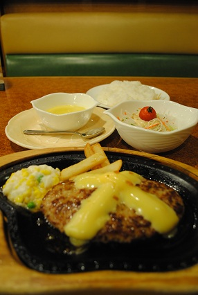 121104チーズハンバーグ定食