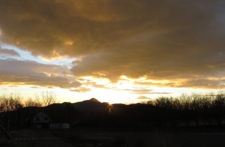 遠刈田の朝日