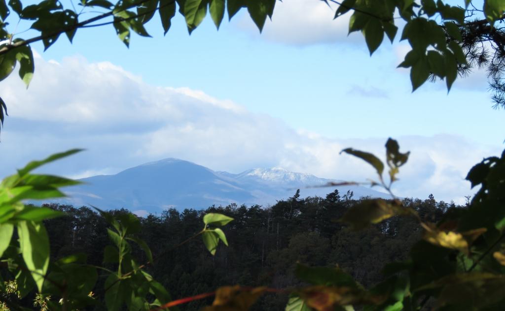 後白髪山と三峰山