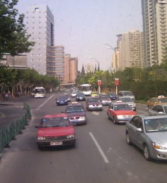 上海・バスの中から