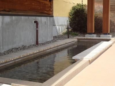パノラマの湯足湯場