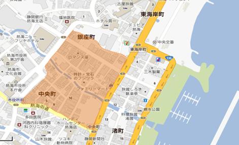 銀座〜糸川周辺エリア