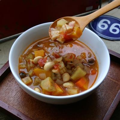 090212/14品目の野菜が入ったトマトスープ