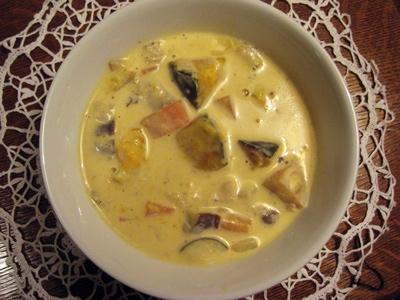 カボチャのクリーミースープ