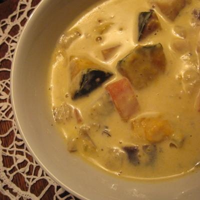 カボチャのクリーミースープ2
