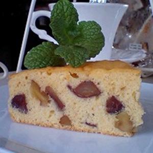 「渋皮栗とクルミのケーキ」
