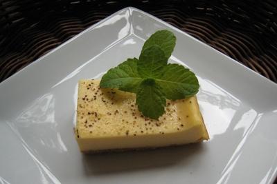 「パルメザンチーズと黒胡椒のチーズケーキ」