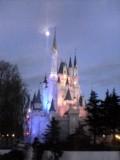 シンデレラ城と月