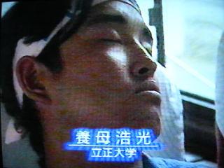 決勝前のバスで睡眠中
