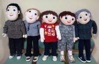 就学前ロールのお人形たち