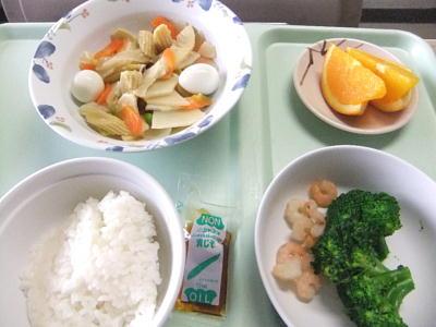 入院中夫の食事八宝菜