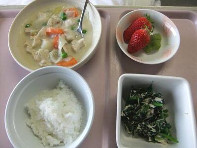 入院中の食事シチュー