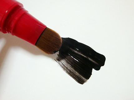 シラガネーゼ ポイントリッチカラー (トリートメント染毛料)塗ったところ