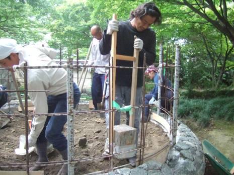 土間下地づくり作業