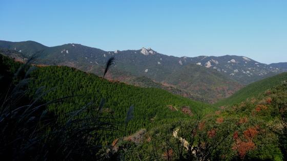 エコーロードから白岳を望む