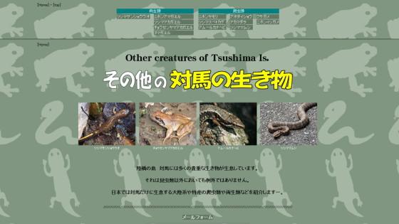 その他の対馬の生き物 両生類・爬虫類