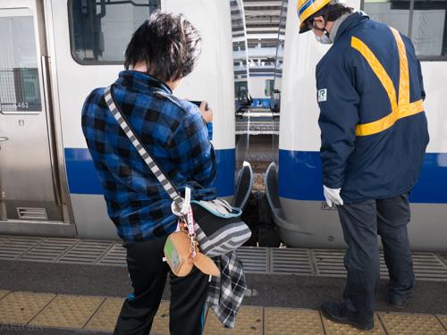 土浦で車両前方切り離し